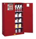Red Paint and Ink Cabinets